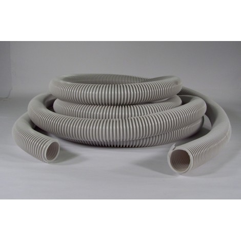 "Hose for Central Vacuum - 35' (10 m) - 1 1/4"" (32 mm) dia - Grey - Anti-Crush - Econo - Plastiflex RF130114030PB"