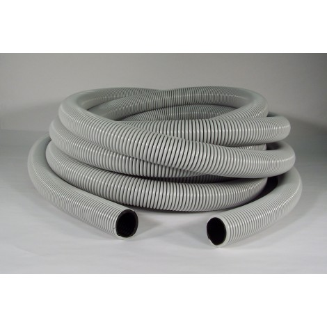 """Boyau pour aspirateur central - 15 m (50') - 32 mm (1 ¼"""") dia - gris noir - anti écrasement - Magnum - Flexhaust 6412508000"""
