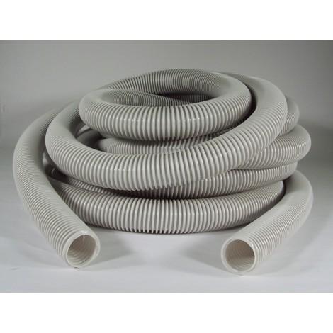 """Hose for Central Vacuum - 30' (9 m) - 1 3/8"""" (35 mm) dia - Grey - Anti-Crush - Econo"""