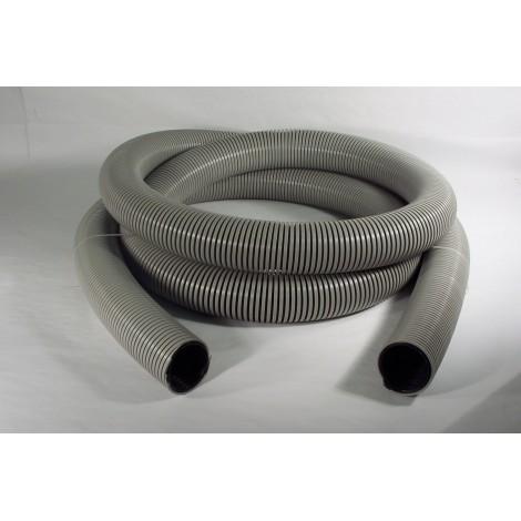 "Hose for Central Vacuum - Per Foot by Multiple of 10' (3 m) - 2"" (50 mm) dia - Grey - Anti-Crush - Zephlex - Plastiflex CZ100200050PI"