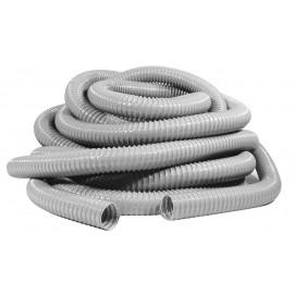 """Boyau pour aspirateur central - 15 m (50') - 38 mm (1 1/2"""") dia - gris - renforcé - Vacuflex - Flehaust 0354-0150-0001-20"""
