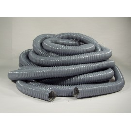 """Hose for Central Vacuum - Per Foot by Multiple of 10' (3 m) - 1 1/2"""" (38 mm) dia - Grey - Reinforced - Vacuflex"""