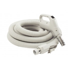 ELECTRICAL HOSE WITH BUTTON FOR CENTRAL VAC - 24V 110V 35' - GAS PUMP - GREY