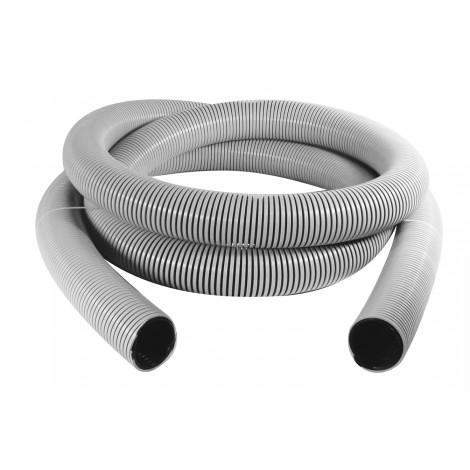 Hose for Central Vacuum - 25' (7') - 50 mm (7') dia - Grey - Anti-Crush - Vaculox