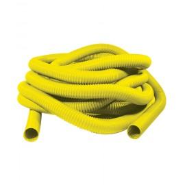 """Boyau pour aspirateur central - 50' (15 m) - 2"""" (50 mm) dia - jaune - renforcé de métal"""