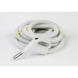 "Hose for Central Vacuum - 50' (15 m) - 1 3/8"" (35 mm) dia - Gas Pump Handle - On/Off Button - Button Lock - Electriflex - Plastiflex XZ130138050BUM"