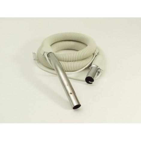 """Boyau pour aspirateur central - 1,82 m (6') - 32 mm (1 1/4"""") dia - blanc - bouton-barrure - Compact Tristar"""