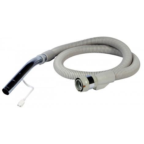 """Boyau électrique pour aspirateur central - 1,82 m (6') - 32 mm (1 1/4"""") dia - beige - poignée courbée en métal - compatible balai électrique - Electrolux BOEL200"""