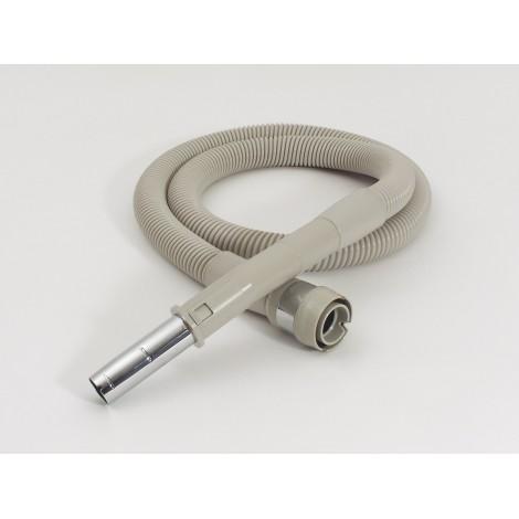 """Boyau électrique pour aspirateur Electrolux série AP - 2,43 m (8') - 32 mm (1 1/4"""" ) dia - gris - anti-écrasement - poignée courbée en métal - compatible balai électrique - Electrolux BOEL400"""