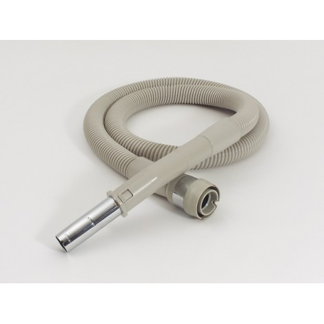 "Electric Hose for Electrolux Serie AP Vacuum - 8' (2.43 m) - 1 1/4"" (32 mm) dia - Grey - Anti-Crush - Curved Metal Handle - Power Nozzle Compatible - Electrolux BOEL400"