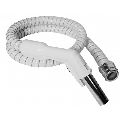 """Electrical Hose for Central Vacuum - 6' (1,82 m) - 1 1/4"""" (32 mm) dia - White - Curved Handle - Reinforced - Electrolux SJ EH8100W"""