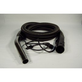 COMPLETE ELECTRICAL HOSE WITH BUTTON - 10 W 1¼ X 8' - JOHNNY VAC - BLACK