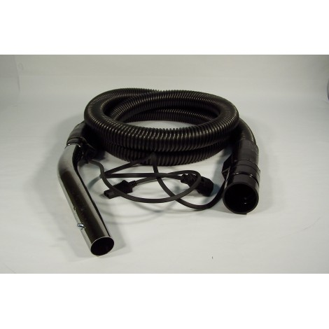 "Complete Electrical Hose - 8' (2.5 m) - 1/4"" (32 mm) dia - with Button Lock - JV10W - Black - Johnny Vac"