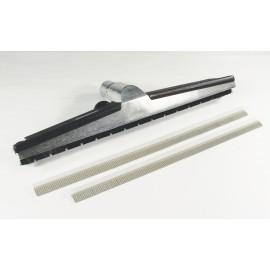 """Brosse industrielle de 1½ x 18"""" pour l'eau, les planchers, avec lames de caoutchouc changeables"""