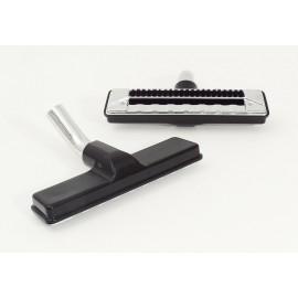 """Brosse à tapis - largeur de nettoyage de 27,9 cm (11"""") - 31,75 mm (1 1/4"""") dia - coude en métal - noir"""