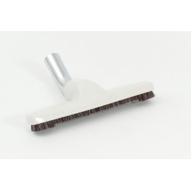 "Floor Brush - 10"" (25.4 cm) Cleaning Path - 1 ¼ "" (31.75 mm) dia - with Metal Elbow - Fits All - Beige"
