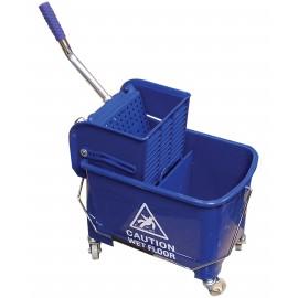 Ensemble seau et tordeur à pression latérale - 5 gal (21 L) - bleu