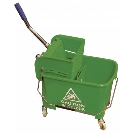 Ensemble seau et essoreuse à pression latérale - 21 L - de couleur verte