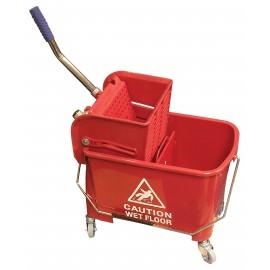 Ensemble seau et tordeur à pression latérale - 5 gal (21 L) - rouge