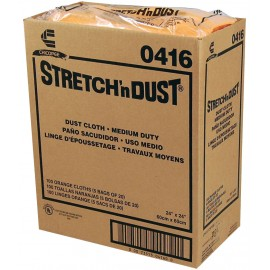 "STRETCH N DUST"" WIPES - 24"" X 24"" - CHICOPEE - ORANGE - PKG/20"