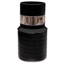 1¼ END CUFF STARTER WITH METAL BAND FOR CENTRAL VAC INLET - BLACK