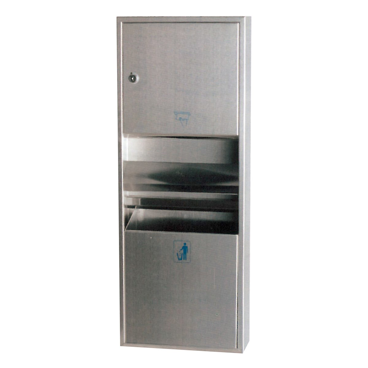hand towel dispenser with trash can multifold stainless steel