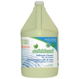 Nettoyant spécialement conçu pour la salle de bain : tuile, baignoire et la cuvette 4L biodégradable - Safeblend #BTFR G04