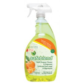Multi-Purpose Cleaner and Degreaser - Tangerine - 33.4 oz (950 ml) - Safeblend CRTO-X12