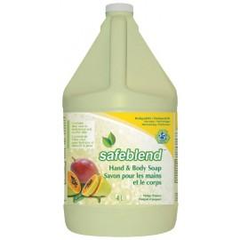 Savon pour les mains et le corps - mangue papaye - 1,06 gal (4 L) - Safeblend HLMP-G04