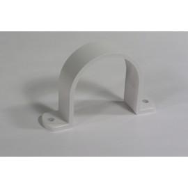 2 PIPE STRAP - FITTING FOR CENTRAL VAC - PLASTIFLEX WHITE