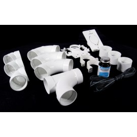 1 INLET FITTING KIT - FOR CENTRAL VAC - WHITE