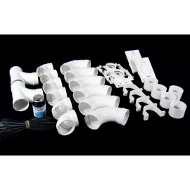 2 INLETS FITTING KIT - FOR CENTRAL VAC - WHITE