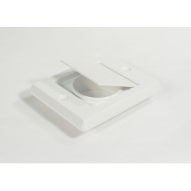 EXHAUST VENT CAP - FITTING FOR CENTRAL VAC - WHITE