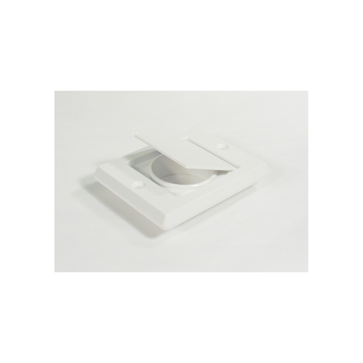 Exhaust Vent Cap Fitting For Central Vac White