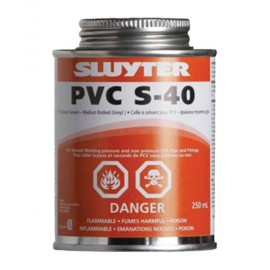 Pvc Solvent Glue - 250 ml - Grey - for Central Vacuum Pipes and Fittings - Sluyter 10603