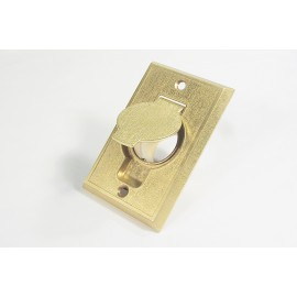 METAL INLET VALVE - FITTING FOR CENTRAL VAC - BRASS