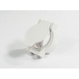 Plaque d'utilité et de contact pour aspirateur central de couleur blanc Canplas 775586W
