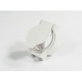 Utility Valve and Contact - Fitting for Central Vac - White Canplas 775586W