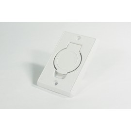 White Inlet Valve - for Central Vac - Plastiflex SV8016
