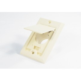 INLET VALVE - FITTING FOR CENTRAL VAC - IVORY