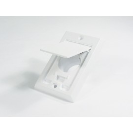 SQUARE DOOR INLET VALVE - FITTING FOR CENTRAL VAC - WHITE