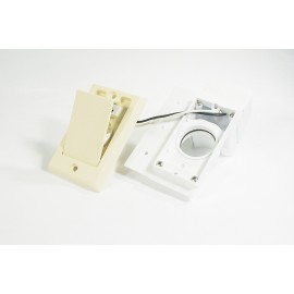 120 V INLET SUPERVALVE - FITTING FOR CENTRAL VAC - IVORY