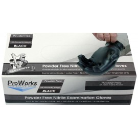 NITRILE GLOVES - M - BLACK - BOX/100