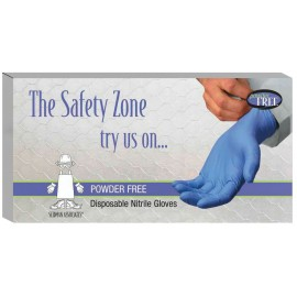 NITRILE GLOVES - WITHOUT POWDER - M - BOX/100
