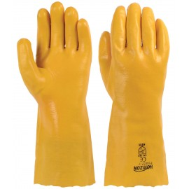 14'' PVC GLOVES - YELLOW