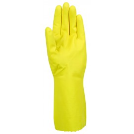 ECONOMIC LATEX GLOVES - YELLOW - L - PACK OF 12 PAIRS