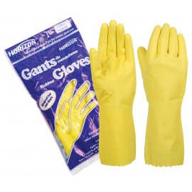 ECONOMIC LATEX GLOVES - YELLOW - M - PACK OF 12 PAIRS