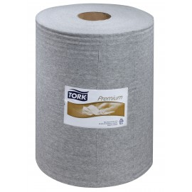 500 INDUSTRIAL CLEANING CLOTH - ROLL - GREY - TORK