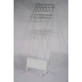 Support pour les accessoires et le boyau d' aspirateur central en métal blanc
