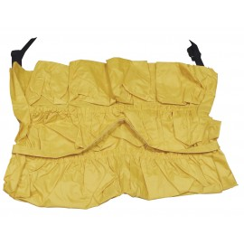 Sac multi-pochettes de rangement pour attacher autour d'une poubelle ronde - jaune